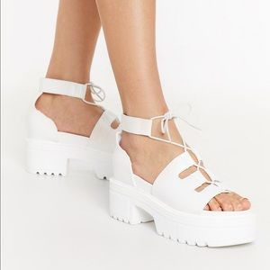White Platform Sandals Nasty Gal